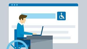 Ilustración usuario con disapacidad accesibiendo a la web