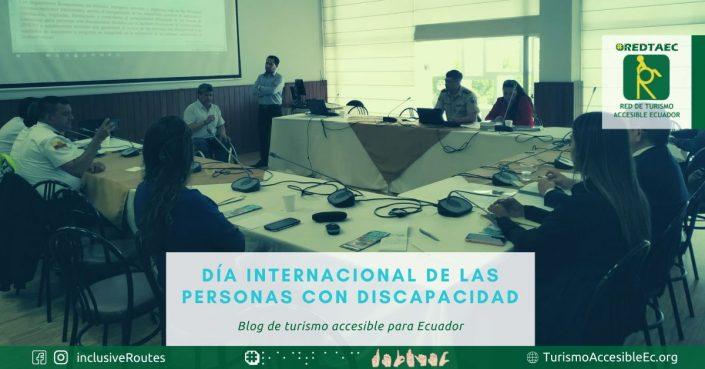 En esta imagen se puede observar el pleno de una comisión de la Asamblea Nacional, donde el presidente de la Red de Turismo Accesible Ecuador expone las necesidades vigentes en Ecuador.